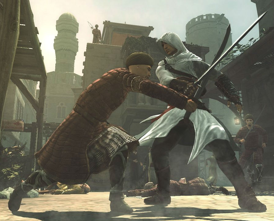 Assassins Creed Altair Guard Sword Fight Gaming Kick